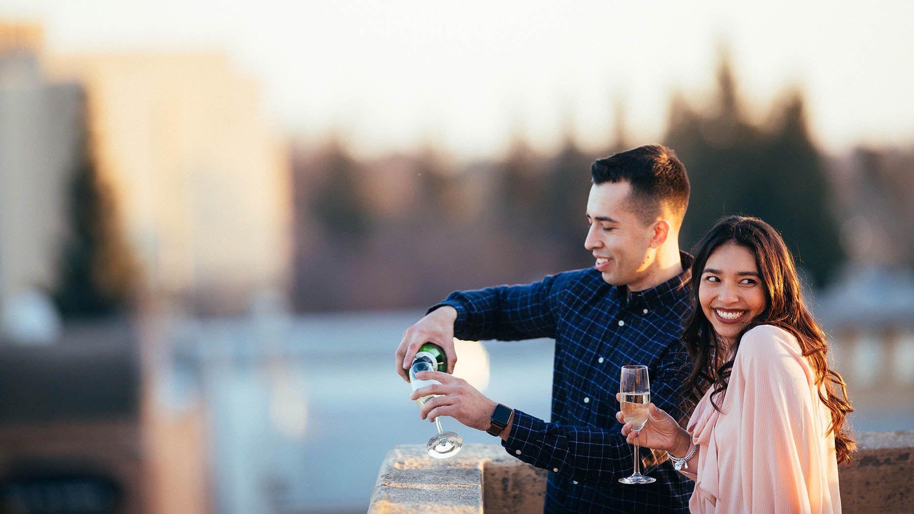 Happy Couple at Wedding Venue Visalia