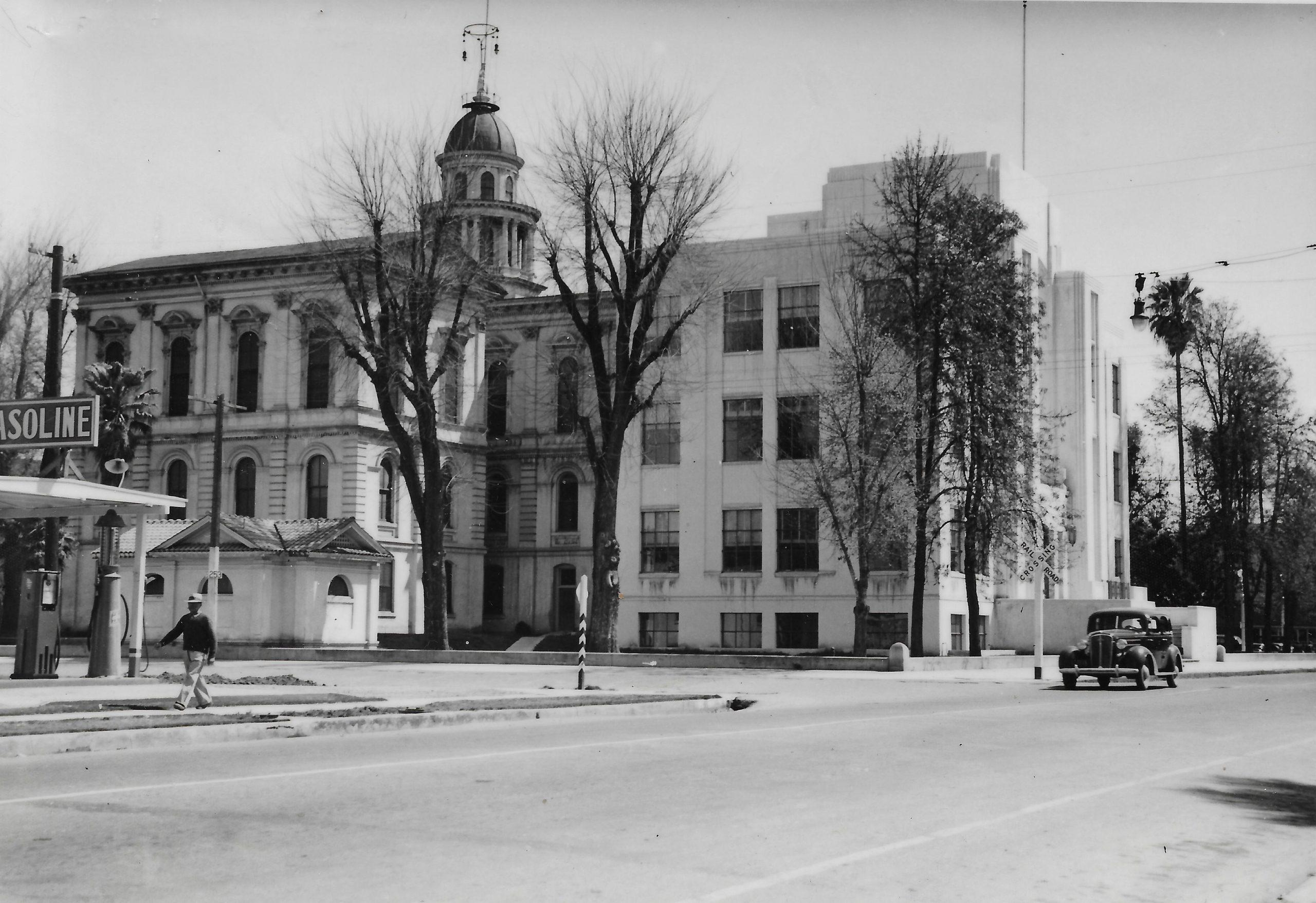 Image of original building with Tulare County Courthouse
